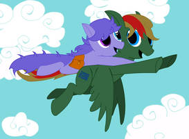 Verdant Binary and Minty Spice Flying by Tassadoul
