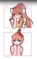 Just Monika by Puffyrin
