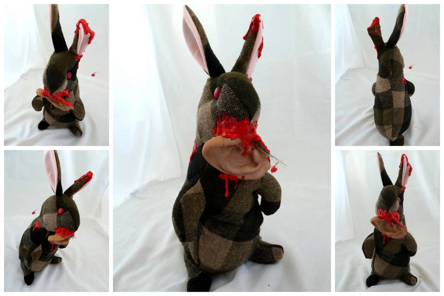 Zombie Bunny with Ear by IckyDog