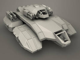 3D Future Tank Front by Mad-Maxx