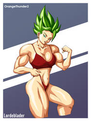 Super Saiyan Kale (Colored) by OrangeThunder2