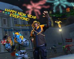 Happy New Year 2018 by HeroWolfMod