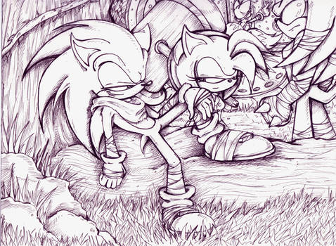 Times 'a' Wastin ! - Sonic Boom pen by MissTangshan95