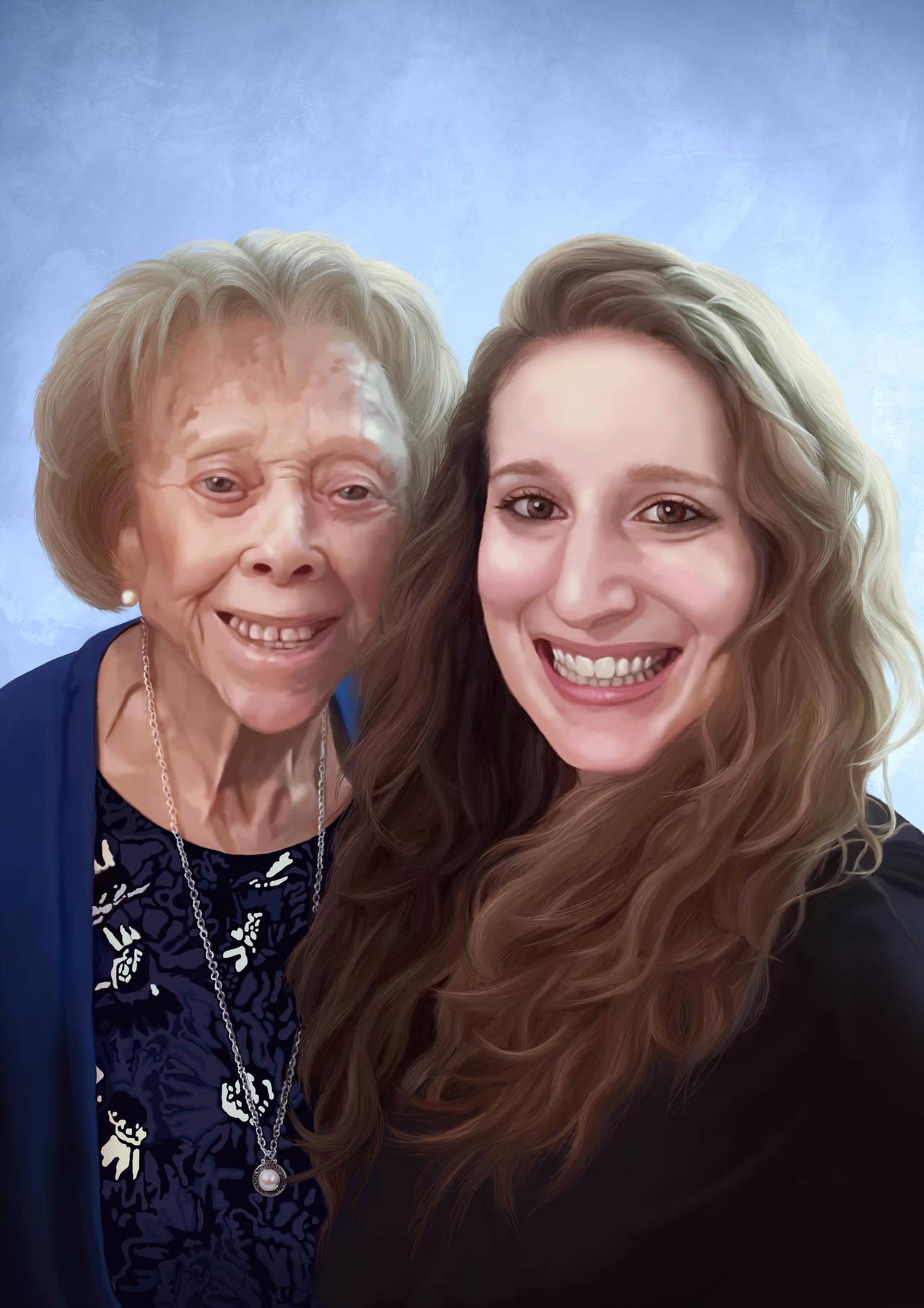 Portrait with Grandma by AdrianDIS