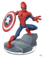 Disney Infinty/Captain America Civil War/Spiderman by FrankSandovalArt
