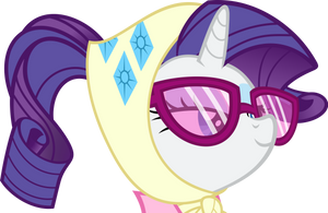 Rarity's Camping Face by Stayeend