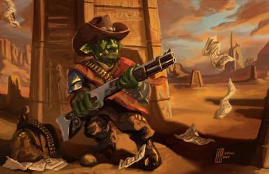 Grakth Gunslinger Character Design Class Project by MichaelHoweArts