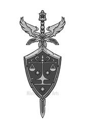 Paladin Crest Sword and Shield by MichaelHoweArts