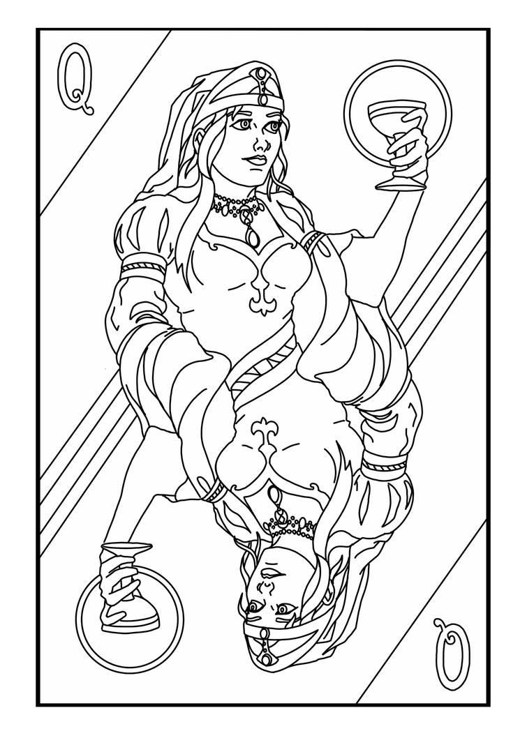 Queen Card by MichaelHoweArts