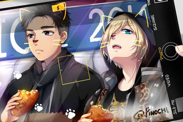 F: Yuri on Ice (otabek and Yurio) by Fuumeh