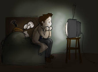 Late night TV by Merliquin