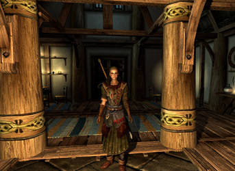 Yvette at the Bannered Mare (Skyrim) by danbuter