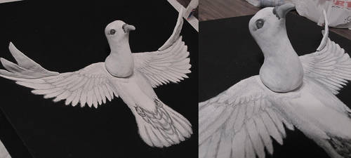 Rising Dove - Detail by DrachenPanther5