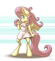 Anthro Fluttershy by Ohemo