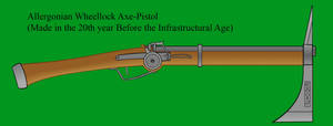 Allergonian Wheellock Axe Pistol by Imperator-Zor