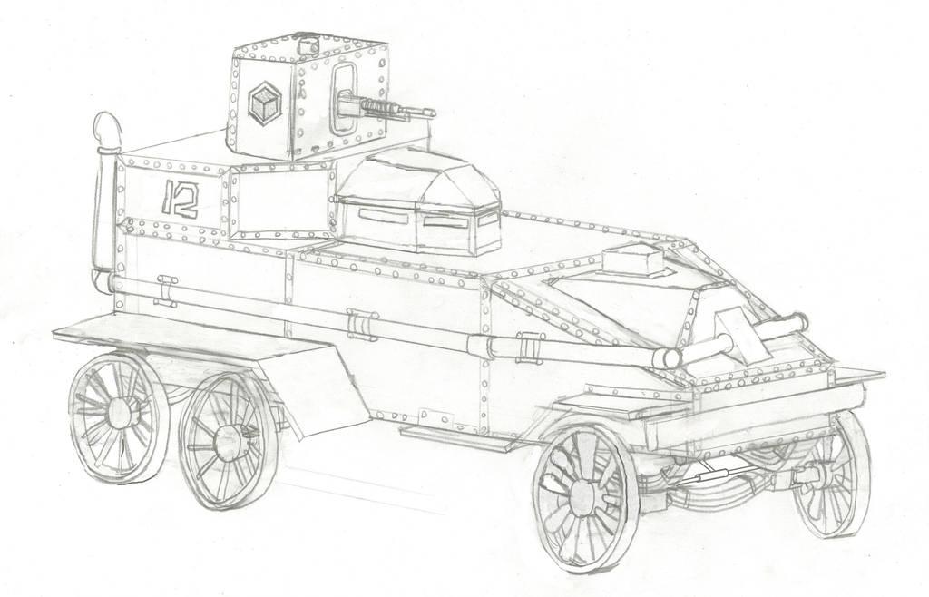 Infrastructural Army Battlesteamer by Imperator-Zor