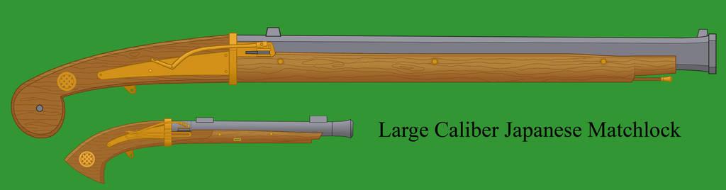 Large Caliber Japanese Matchlock by Imperator-Zor