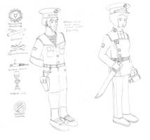 Infrastructural Navy warm weather uniforms by Imperator-Zor