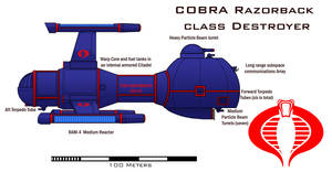 Cobra Razorback class Destroyer by Imperator-Zor