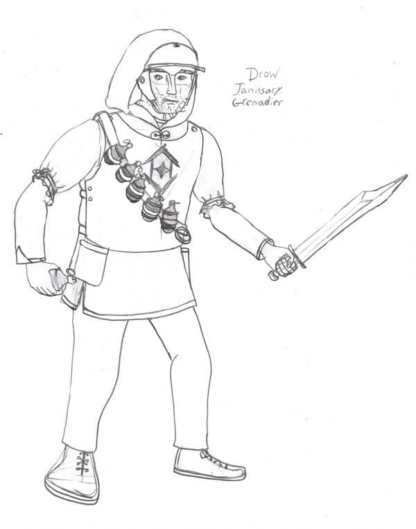 Drow Janissary Grenadier by Imperator-Zor