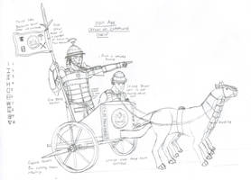 Iron Age Officer on a Command Chariot by Imperator-Zor