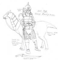Iron Age Heavy Cavalry Archer by Imperator-Zor