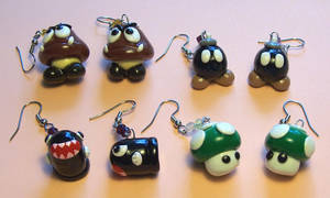 Nintendo Earrings by Gimmeswords