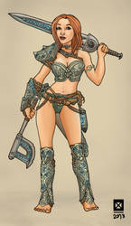 Barbarian girl by mrAlejoX