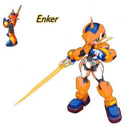 Megaman ZX Live Metal: Enker by BarryBurton