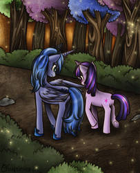 Luna and Twilight by Christinies