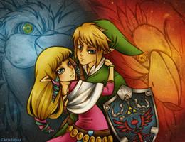 Skyward Sword: Link and Zelda by Christinies