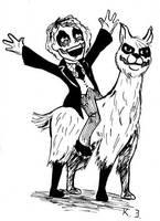 Joker on a Llama by Penguinton