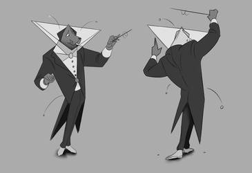 Angular Conductor Dog by Heccentrik