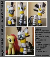 Custom Pon-- er, Zebra: Zecora by autumnalone