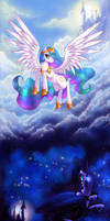 Celestia and NMM by LimreiArt