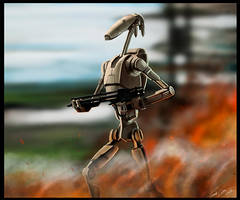 Star Wars I - B1 Battle Droid by PetuGee