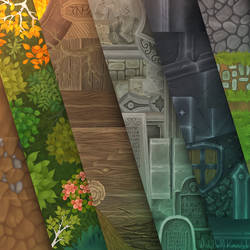 Hand painted textures for Isometric Pack by Viollethien