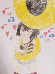 Little Spider-Girl, Big Tuba by ZeldaGuy12