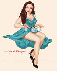 Rayna pin up by AtomicKirby