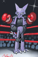 Fighting Alakazam by P5ych