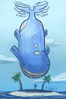 Dragon Wailord by P5ych
