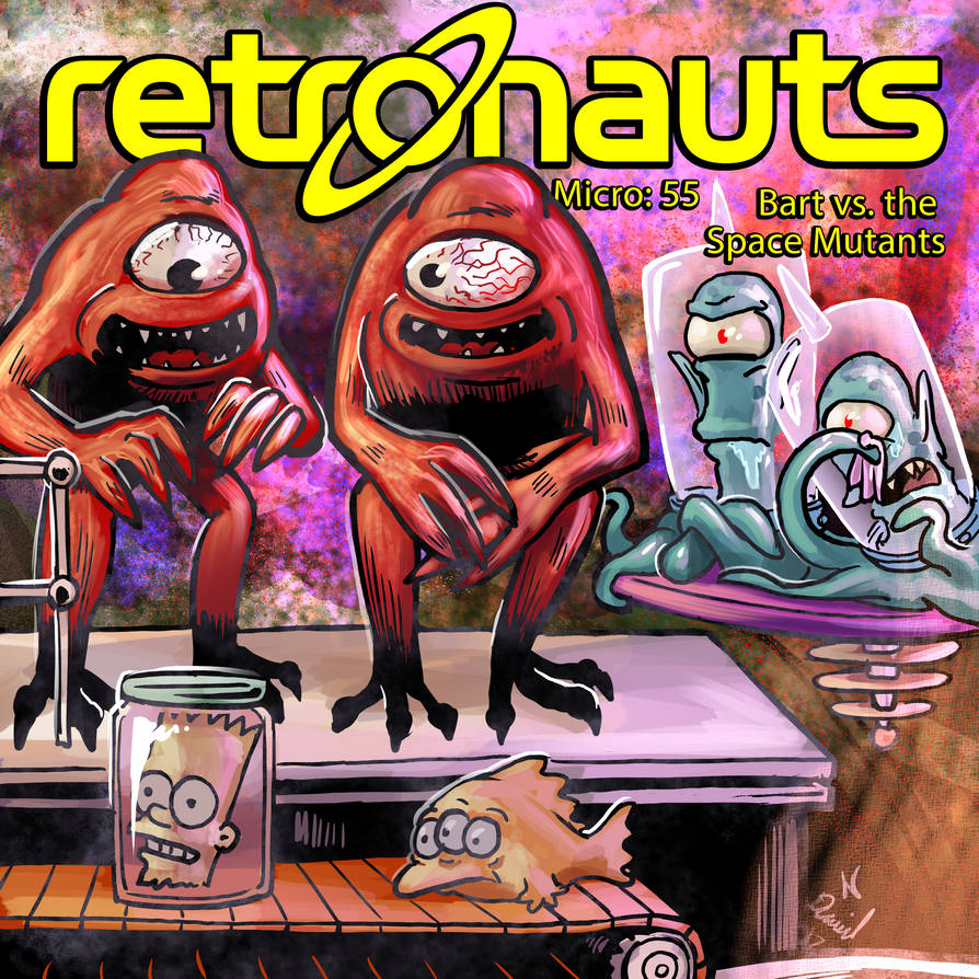 Retronauts Micro 55 Bart Vs The Space Mutants by P5ych