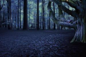 Lonely Tree Premade Background by KarahRobinson-Art