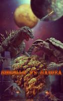 Godzilla Vs Gamera CONTEST SUBMISSION by KarahRobinson-Art