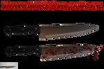 Knife PNG Stock Pack by KarahRobinson-Art