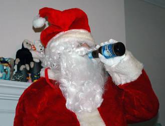 Santa Likes Blue Moon Beer by xstalscar