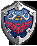 Pixel Hylian Shield (Skyward Sword) by sugarpoultry