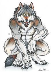 Werewolf - Inktober by sugarpoultry