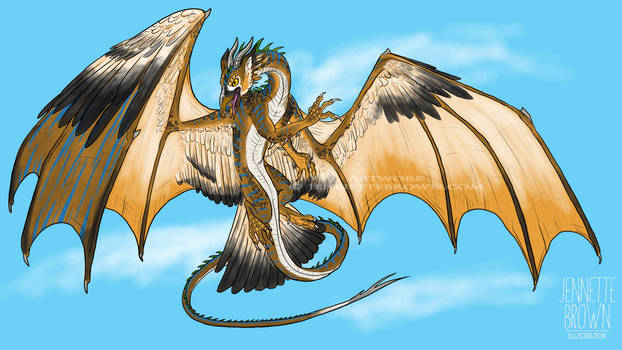 Gryphon Dragon - Phone Painting! (Adoption CLOSED) by sugarpoultry