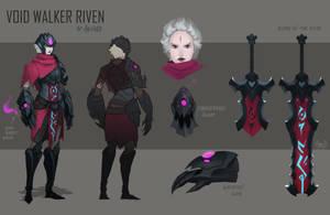 Voidwalker Riven skin idea by BlazeMalefica